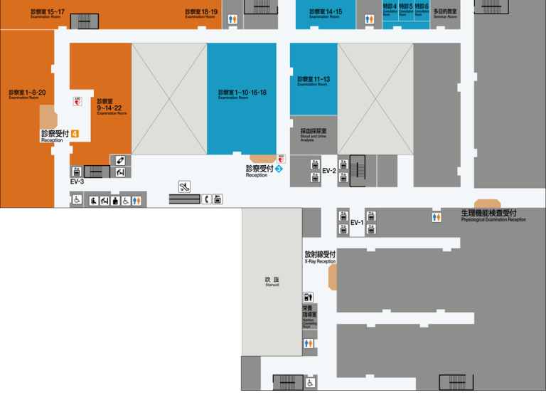 大阪市立総合医療センター2階平面図